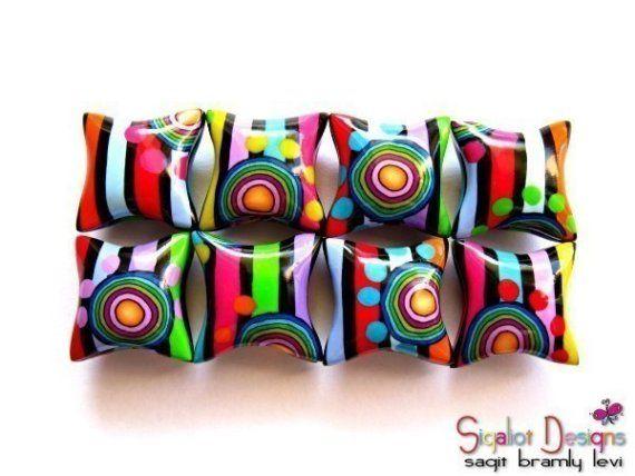 Crayon Box Polymer Clay Beads.