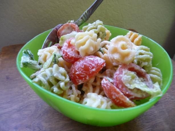 BLT Pasta Salad from Food.com: This pasta salad is a healthy, filling ...