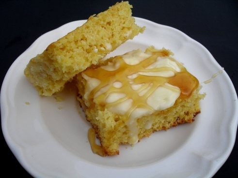 homestead cornbread with honey and butter   Bread   Pinterest