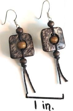 Natural Artist - Coconut Earrings - Squared, $16.00 (http://naturalartist.com/coconut-earrings-squared/)