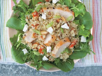 """Quinoa Salad with Roasted Chicken, Apricots, and Goat Cheese"""" from ..."""