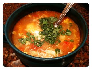 Tomato Egg Drop Soup | food | Pinterest