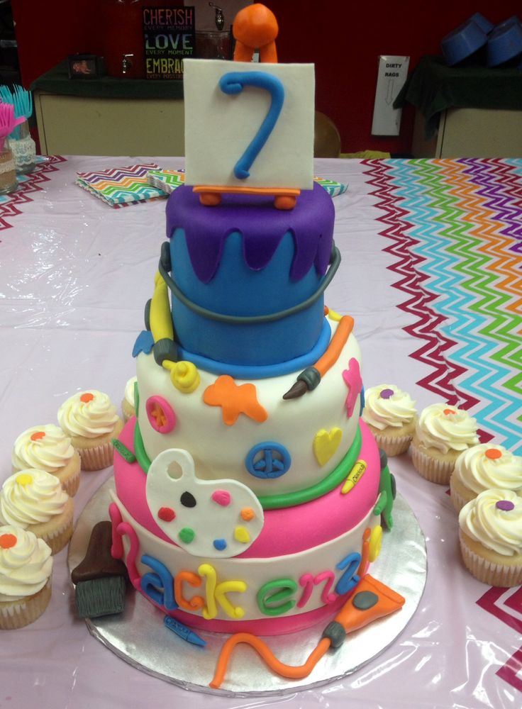 Art Themed 7th Birthday Cake! {My Custom Birthday Cake ...