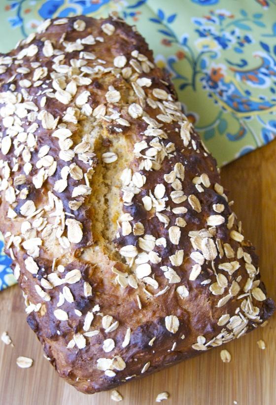 To Honey Oat Quick Bread | insatiably | food | Pinterest