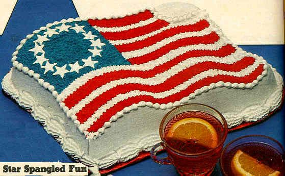 4th of july flag cake with pudding