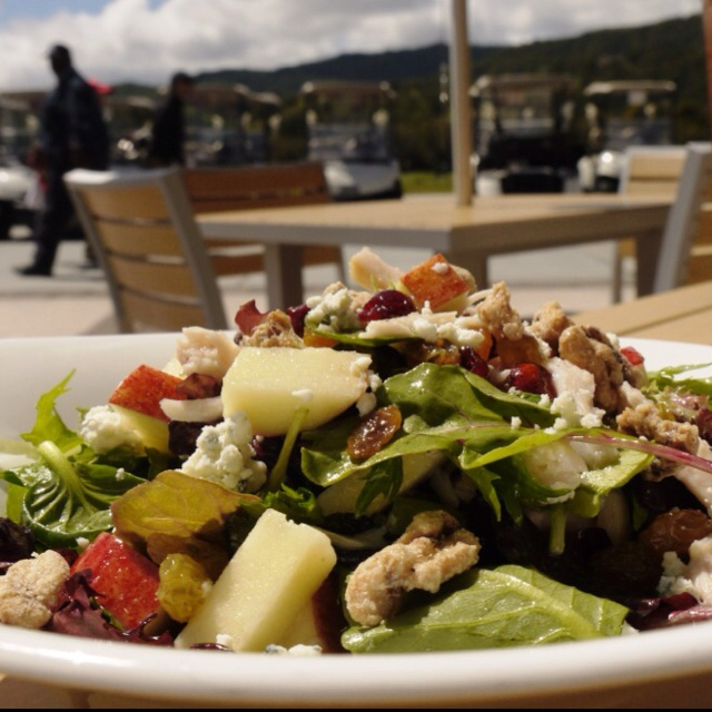 Smoked Chicken Salad (chicken, mixed greens, sliced fresh apples ...