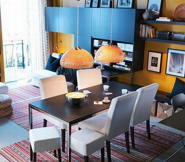 Dining rooms decorating trends for 2012 for Small dining room solutions