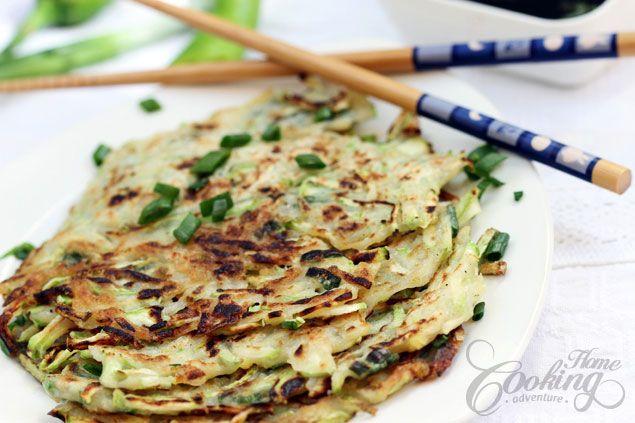 Zucchini Pancakes (Hobakjeon) :: Home Cooking Adventure