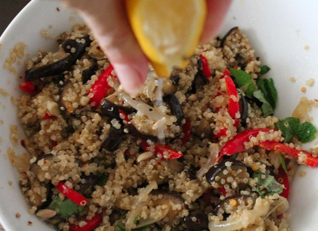Cozy Roasted Pepper & Eggplant Salad Recipe — Dishmaps