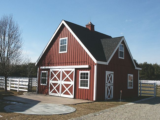 Small red barn dream barn pinterest for Small barn house kits