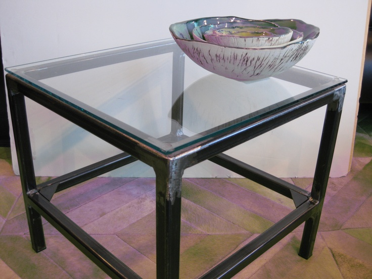 Iron And Glass Side Table Pinterest
