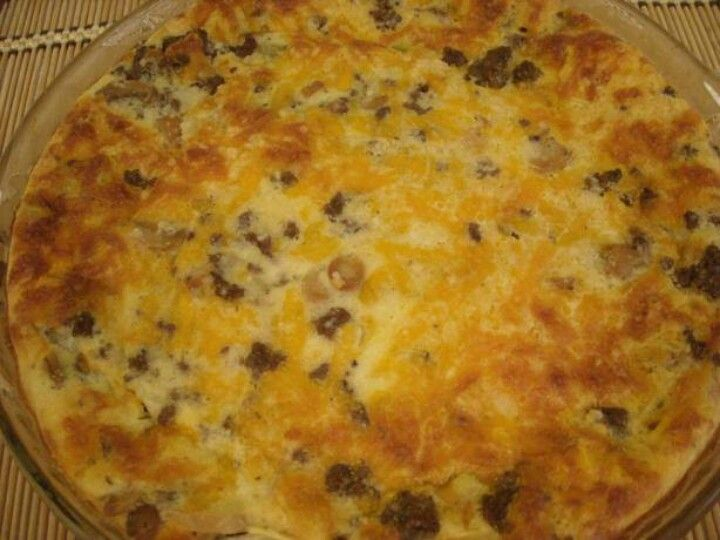Ground beef pie | Must Try Recipes | Pinterest