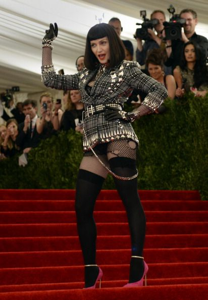 Madonna punk style in Givenchy at the Met Gala 2013