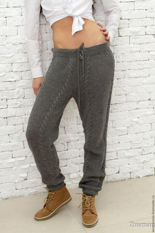 Вязанные брюки женские 32