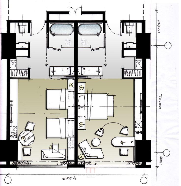 Hotel plan plans pinterest for Room design blueprint