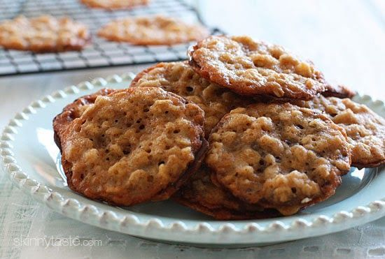 Dark Chocolate Oatmeal Lace Cookies   Skinnytaste
