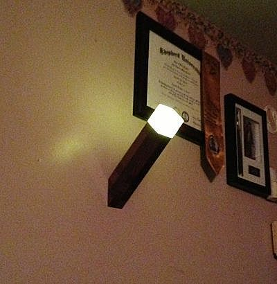 Minecraft Wall Light Mod : Minecraft Light-Up Torch for office wall Home Cratfy aspirations