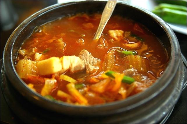 ... kimchi-jjigae) / Kimchi Stew Spicy stew made with ripened kimchi, pork