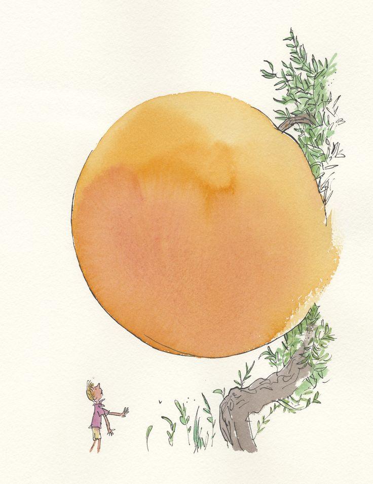 giant peach - Quentin Blake | Quentin Blake | Pinterest