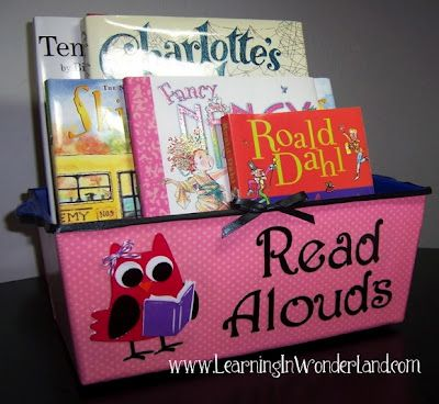 A cute place to put your read alouds for the week
