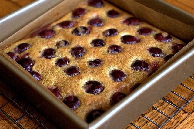 Cherry brown butter bars from the oven by smitten, via Flickr