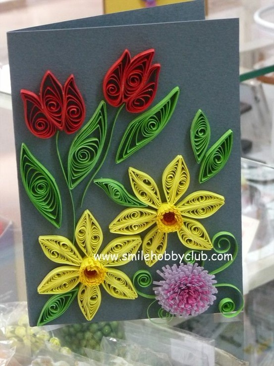 Paper Quilling Flower Tulips