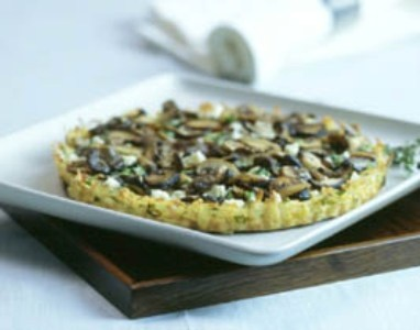 Mushroom Tart in Potato Crust | Good Eatin' | Pinterest
