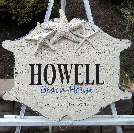 Personalized Beach House Plaques
