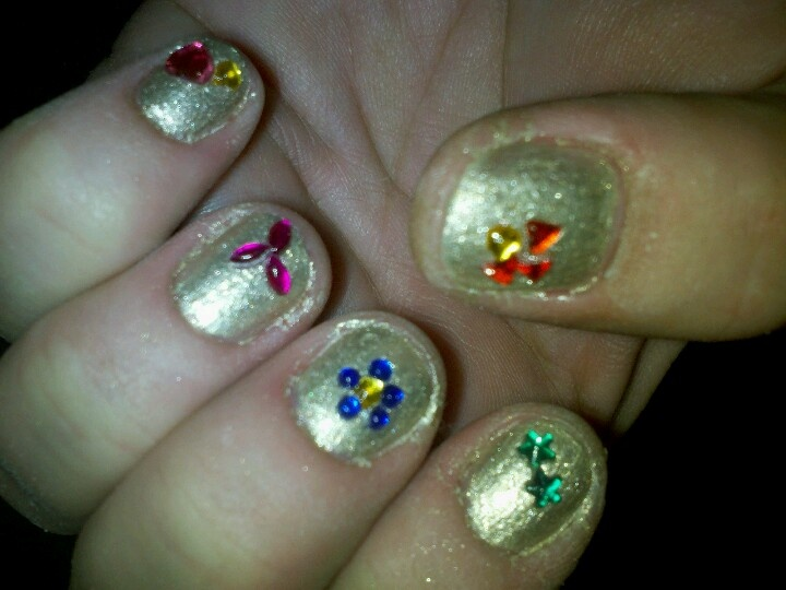 Lucky charms on antiqued gold | Lady Fingers (and Toes!) | Pinterest