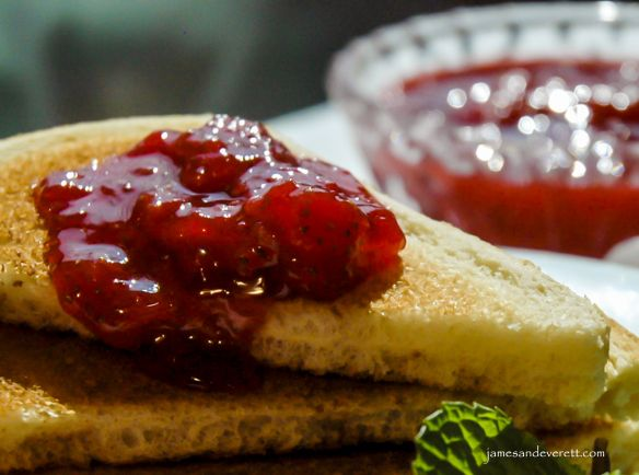 ... strawberry jam! Perfect for a strawberry picking day