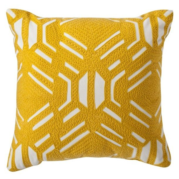 Target Throw Pillow Yellow : Room Essentials Patterned Decorative Pillow - Yellow