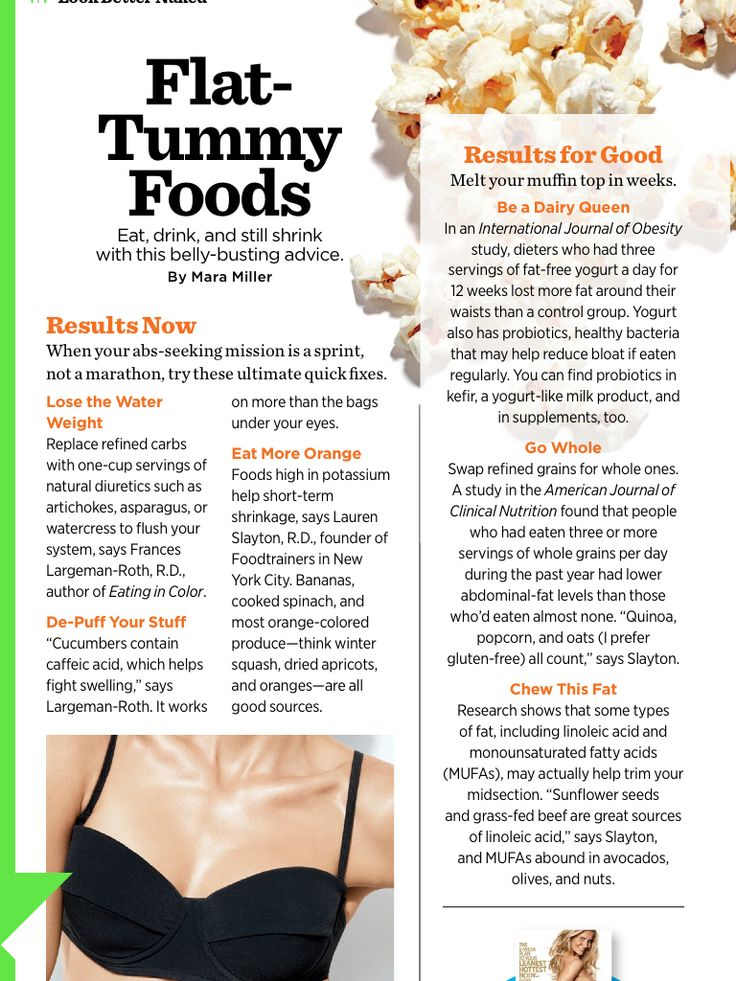 Diet tips for flat belly