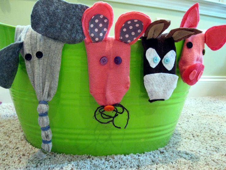 simple puppets socks   mitjons pinterest