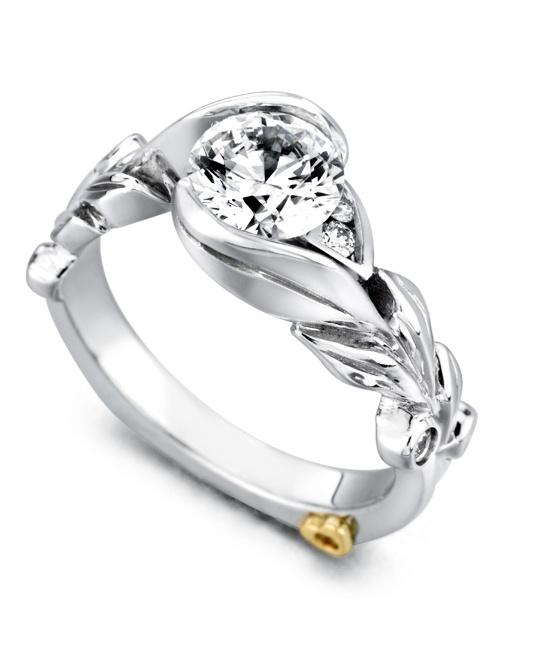 Wedding Ring Designs Engagement Rings Contemporary Engagement Rings Fusion Engagement Ring