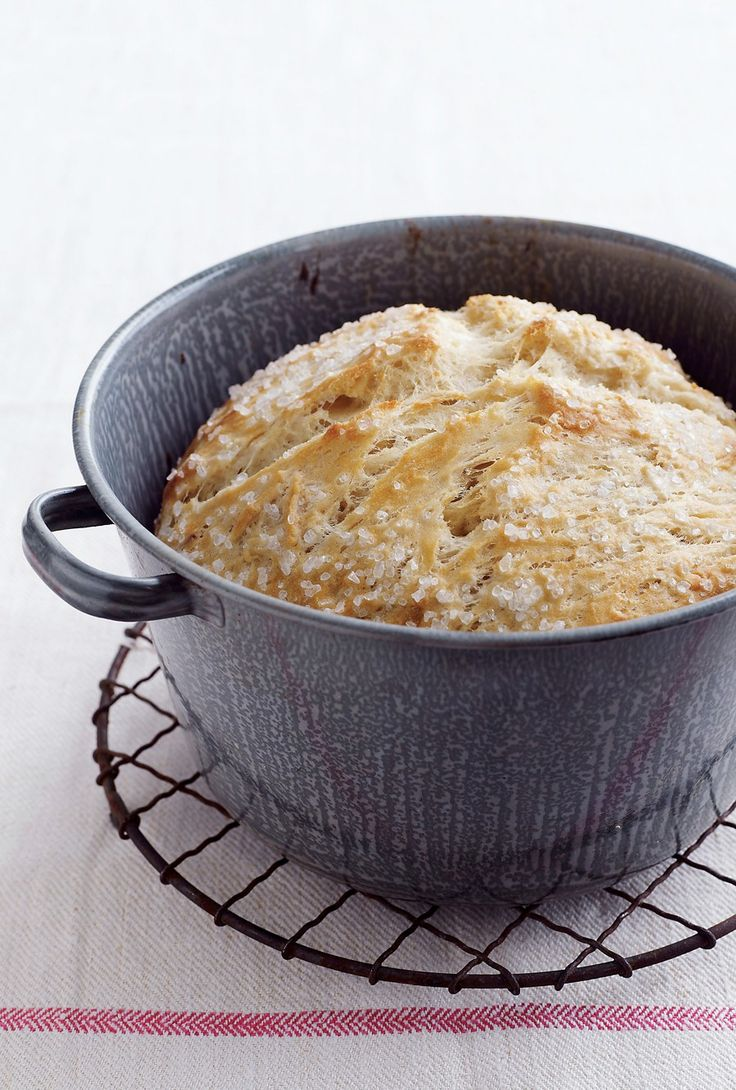 No-Knead Breads | Vegetarian Times | Breads & Biscuits | Pinterest