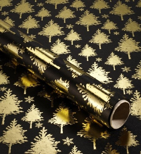 gold wrapping paper falalalala pinterest. Black Bedroom Furniture Sets. Home Design Ideas