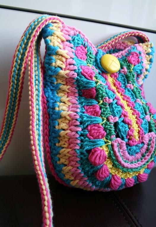 Crochet Boho Bag Pattern : Crochet boho bag pattern 166 via Craftsy crochet bags Pinterest