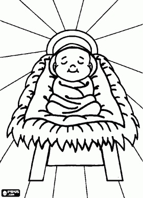 Nativity scene coloring pages, Nativity scene coloring book, Nativity ...
