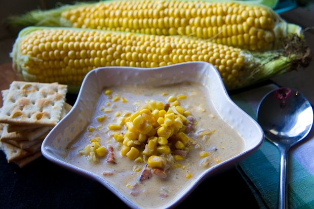 corn and cauliflower chowder | Want to try | Pinterest
