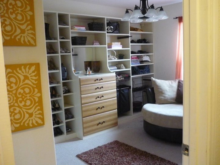Spare Bedroom Turned Into A Walk In Closet Zebrano Drawer Fronts Add A Littl