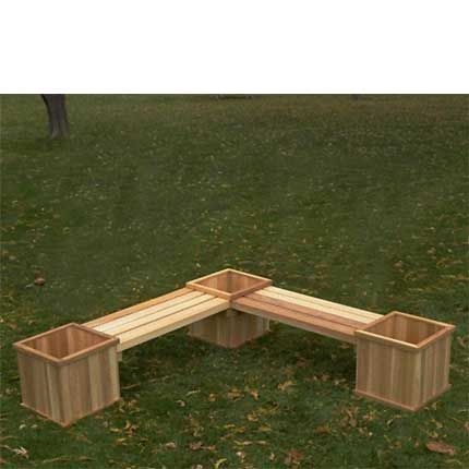 how to build bench wooden planters