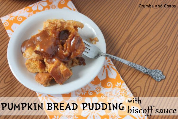 Pumpkin bread pudding. Ingredients: butter, day old french bread ...