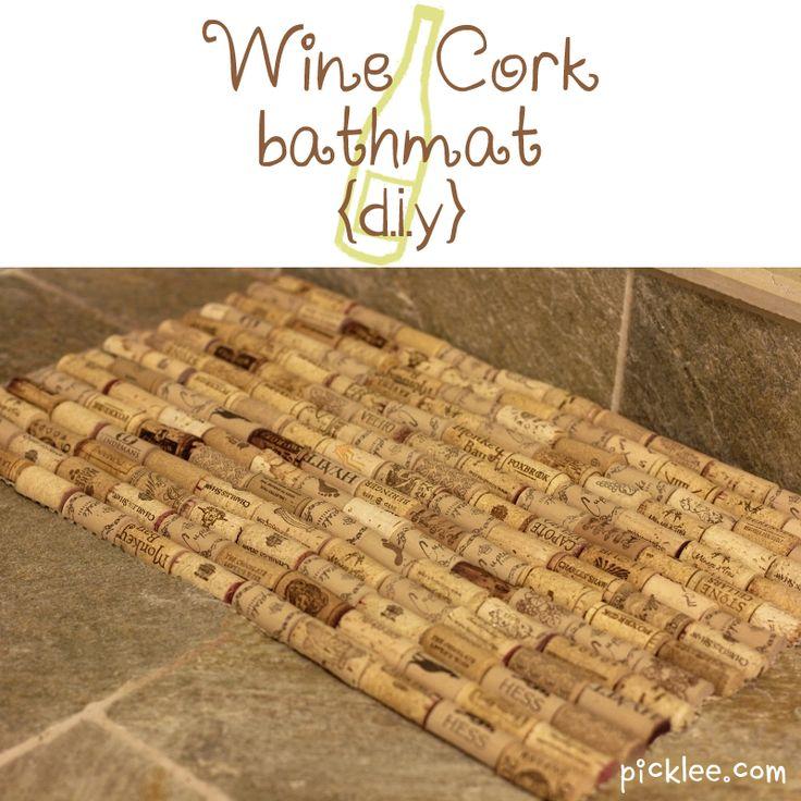 Wine Cork bathmat (diy)