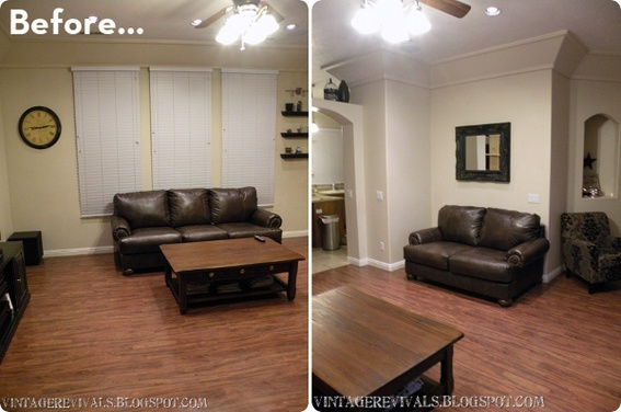 before after a high style low cost living room makeover