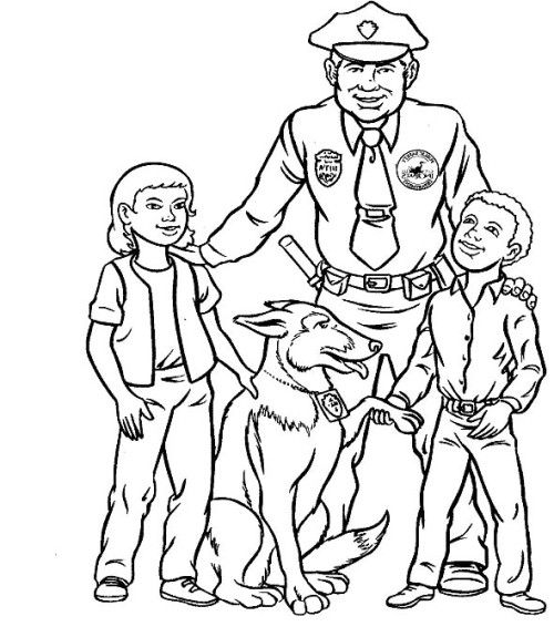 policeman coloring pages kids - photo#23