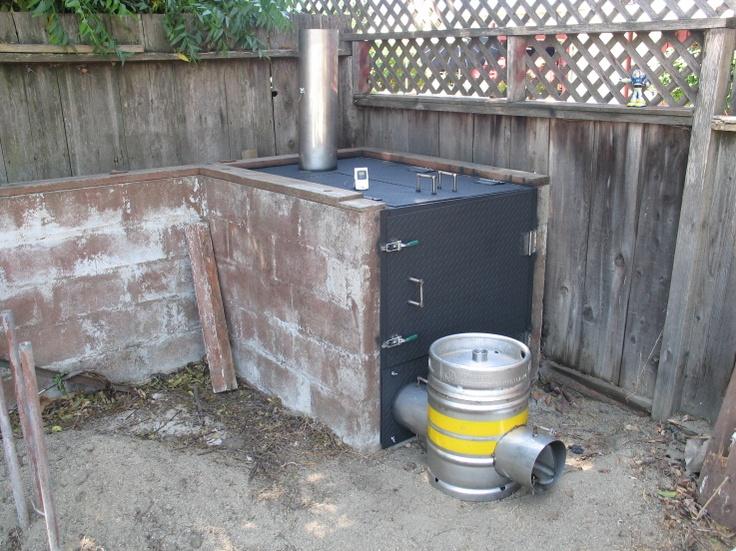 Backyard Cinder Block Smoker : Backyards