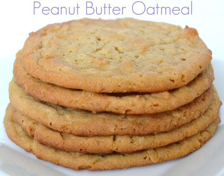 Peanut Butter Oatmeal Cookies   Sweets   Pinterest