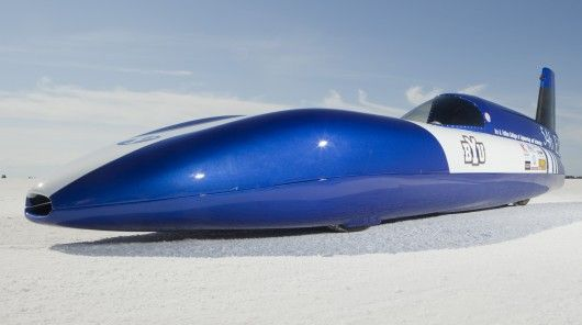 The 'Electric Blue Streamliner', an electric car, built by Brigham Young University students, reached a top speed of 175mph on a recent run aat the Bonneville Salt Flats. ( A Tesla Roadster has a top speed of 125mph.) via gizmag. #Electric_Blue #Electric_Car #BYU
