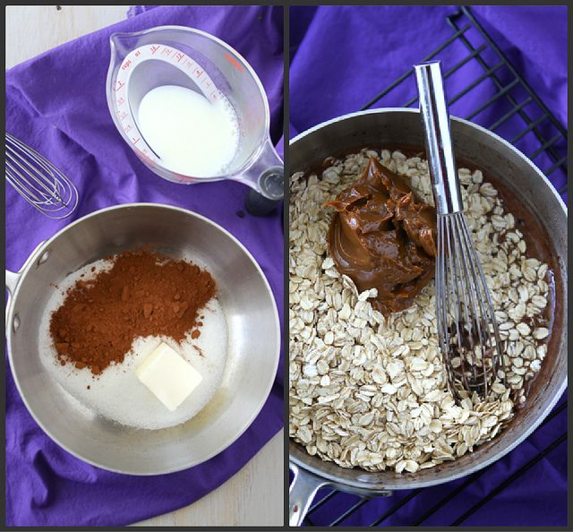 Light(er) No-Bake Cookies Recipe with Dulce de Leche, Sea Salt & Oatm ...