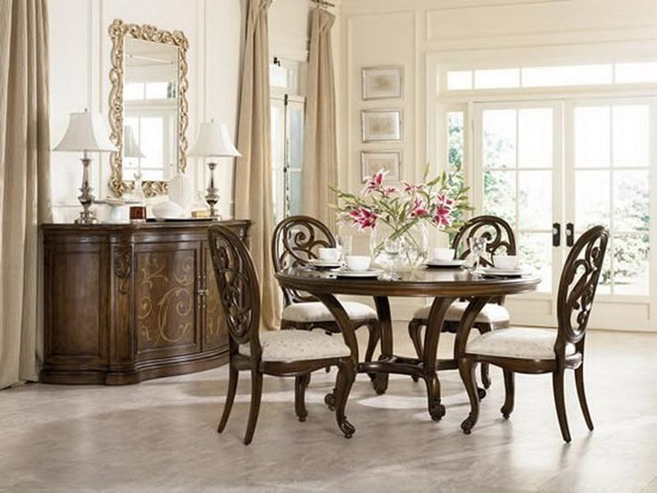 Classic round dining room table sets our 1st place d for Round dining room sets